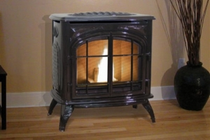 Pellet Stove A1108 Traditional Cast Iron Black Painted